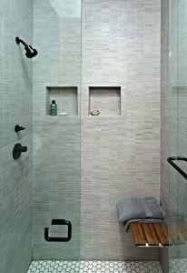 bagni moderni piccoli East Village, Bench, Bathtub, Shower, Contemporary, Bathroom, Design Ideas, York, Studio