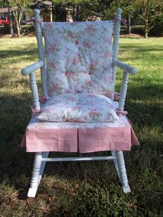 Vintage Child Solid Wood Rocking Chair W Ladder Back And