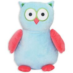 "Owl Stuffies Embroidery Blank measures 12"" sitting and has a removable stuffing pouch to enable personalization directly on the plush animal. The Stuffie has two removable pods - from the head and body."