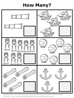 Christopher Columbus Day For Kindergarten Math Worksheets Printable PDF