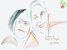 7 dicembre - Così ci ha ritratto la nostra carissima amica Marcella , amica di Pranzo di famiglia... ma soprattutto amica da una vita di tutta la nostra famiglia... E' un graditissimo regalo!! Grazie cara!!!