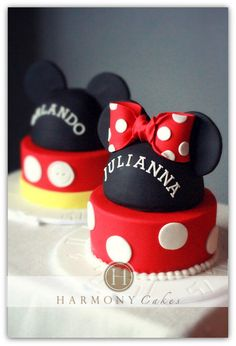 M&M Mouse Cakes - Cake by Jennifer Fedje - CakesDecor  Minnie And Mickey Mouse Theme Wedding Ideas