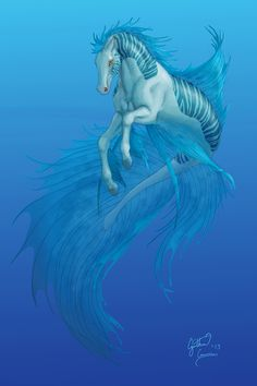 Hippocampus by dracontiar on DeviantArt Mythical Creatures Art, Mythological Creatures, Magical Creatures, Creature Drawings, Horse Drawings, Elfen Fantasy, Fantasy Art, Dibujos Percy Jackson, Manga Dragon