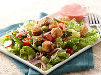 Edamame Salad with Raspberry Vinaigrette