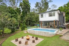 A unique custom-built retreat set amidst the beautiful surrounding bush. The irregular and difficult building envelope set in a sloping terrain, gave rise to.