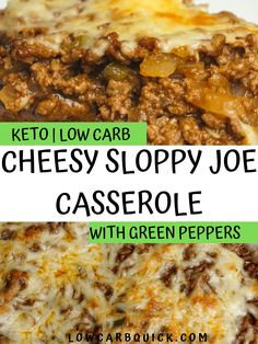 Keto Cheesy Sloppy Joe Casserole (Easy) — LOW CARB QUICK Sloppy joe covered mushroom casserole with Monterey jack cheese topping. Low-carb and keto friendly, a healthy and easy weeknight dinner idea. Keto Foods, Keto Recipes, Dinner Recipes, Healthy Recipes, Low Carb Dinner Ideas, Cuban Recipes, Pasta Recipes, Vegetarian Recipes, Sloppy Joe Casserole