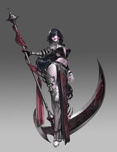 Jay's weapon – Character Design Dark Fantasy Art, Fantasy Girl, Fantasy Artwork, Fantasy Character Design, Character Design Inspiration, Character Art, Female Character Concept, Dnd Characters, Fantasy Characters