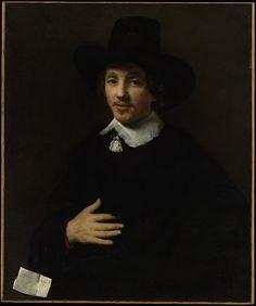 Autoportrait présumé de Willem Drost, ou d'un homme, 1653-55