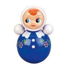Kitsch Kitchen These adorable tumble dolls always come back up when pushed over to the sound of a beautiful jingly bell inside the doll. This would make a wonderful gift or to add some retro style decoration to a little person's room. #retrotoy #tumbledoll #kitsch #kitschtoy #matryoshka #retro