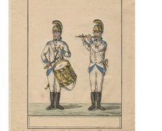 Austrian Army fife and drummer c. 1792