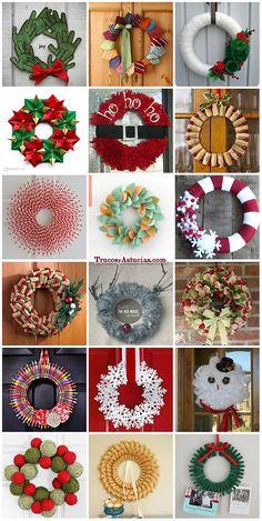 coronas navideñas, navidad en tu puerta