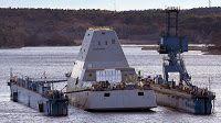 Navy stealth destroyer Zumwalt nears final construction phase