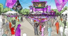 An artistic rendering of what London's Hyde Park Live Site will look like. #olympics #london