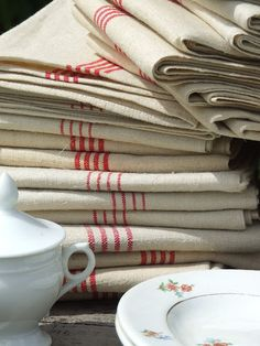 Snap up vintage linens when you can. They are so absorbent and will last FOREVER.