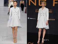 Jennifer Lawrence In Christian Dior - 'The Hunger Games: Catching Fire' Berlin Premiere - Red Carpet Fashion Awards