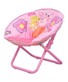 Look at this Peppa Pig Easy-Fold Saucer Chair on #zulily today!