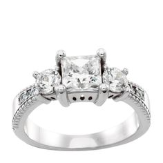 14K White Gold 1.03 cts Round Brilliant Cut $1215