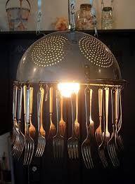 Colander & Spoons Candelier
