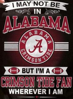 This was me during the national championship game. I was in Colorado and screaming just as loud as I would have in 'Bama.