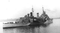HMS Belfast a British Royal Navy light cruiser.
