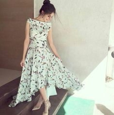 Trust in your Heart & your Sun shines forever & ever! Indian Gowns Dresses, Indian Fashion Dresses, Indian Designer Outfits, Girls Fashion Clothes, Designer Dresses, Clothes For Women, Girls Frock Design, Long Dress Design, Stylish Dresses