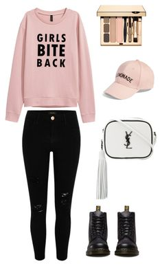 """""""Jiminie outfit"""" by jimin5376 ❤ liked on Polyvore featuring River Island, Dr. Martens, Yves Saint Laurent and Amici Accessories"""
