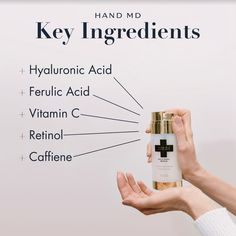 Anti-aging ingredients are key to fighting signs of aging on your hands! Anti Aging Hand Cream, Serum, Moisturizer, Skincare, Hands, Key, Signs, Moisturiser, Unique Key