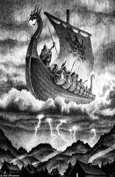 Viking Ship headed for Valhalla