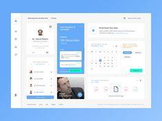 Healhtcare Web App by Kike Escalante on Dribbble Dashboard Interface, Web Dashboard, Ui Web, Dashboard Design, User Interface Design, Flat Web Design, Ui Design, Design Layouts, Graphic Design