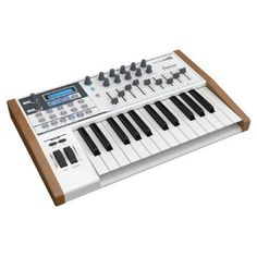 Arturia KeyLab 25 MIDI Controller Keyboard The Arturia KeyLab 25 has 25 full size velocity sensitive keys for a more flexible performance. This 25 key version of the Arturias KeyLab series of controllers is perfect for the travelling musician  http://www.MightGet.com/january-2017-11/arturia-keylab-25-midi-controller-keyboard.asp