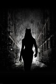 FreeiOS7   ab23-wallpaper-catwoman-walking-dark   freeios7.com