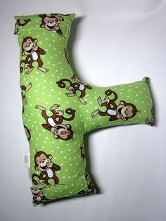 Child's Seat Belt Pillow - Monkeys - by SafferyMoore on Etsy.