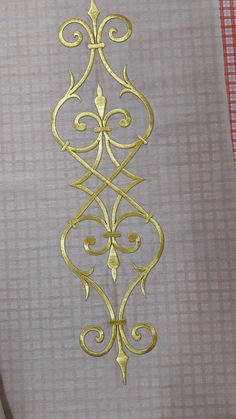 This Pin was discovered by Emi Embroidery Suits Design, Embroidery Transfers, Gold Embroidery, Embroidery Needles, Hand Embroidery Patterns, Machine Embroidery, Free Stencils, Ornaments Design, Celtic Art