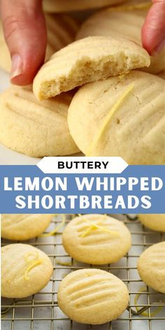 Whipped Shortbread Cookies, Shortbread Recipes, Sugar Cookies Recipe, Yummy Cookies, All Butter Shortbread Recipe, Christmas Shortbread Cookies, Lemon Butter Cookies Recipe, Macaroons Christmas, Vanilla Cookie Recipe