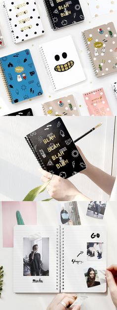 If you are looking for a charming notebook, do check out the medium Ghost Pop Notebook! This notebook has a cute and fun illustration of a cartoon ghost, and has plenty of spaces to make writing more enjoyable!