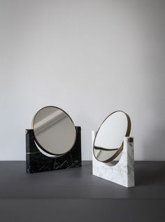 Marble mirrors.