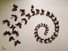 Pared con mariposas | Uchi Son muy fáciles de hacer, solo se necesita un poco de precisión y latas de refresco