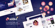 Addkit - Multipurpose Template by creabik | ThemeForest Html Website Templates, Email Templates, Social Media Marketing, Digital Marketing, Learning Courses, Personal Portfolio, Landing Page Design, Coworking Space, Business