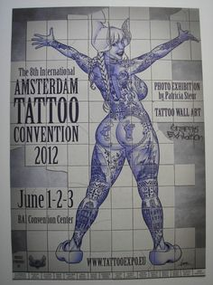 From September until the Amsterdam will become the center of tattooing again. With 350 artists coming from all corners of the world, it promises to be a fantastic Amsterdam Tattoo Convention.