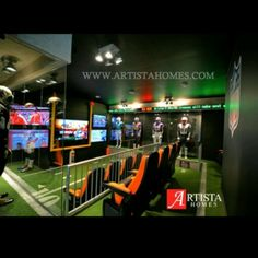 NFL media room. Artista Homes and Phil Amero. 124 Lake Bend Dr. Winnipeg, MB Home Builders, Nfl, Homes, Room, Artists, Bedroom, Houses, Home, Rooms