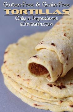 Gluten-free tortillas with only 4 ingredients! They are easy to make in about 15 minutes. These healthy chickpea wraps are wheat-free, grain-free, corn-free, vegan (dairy-free, egg-free) and perfect. Gluten Free Grains, Gluten Free Cooking, Cooking Recipes, Gluten Free Dairy Free Bread Recipe, Gluten Free Vegan, Gluten Free Garlic Bread, Healthy Gluten Free Bread, Gluten Free Quick Bread, Gluten Free Flatbread