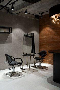 Ryoji Sakate is a minimalist hair salon located in Jakarta, Indonesia, designed by Reiichi Ikeda. Home Hair Salons, Hair Salon Interior, Salon Interior Design, Home Salon, Beauty Salon Decor, Beauty Salon Design, Hair And Beauty Salon, Hair Salon Chairs, Barbershop Design