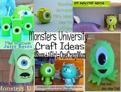 Keeping the kids entertained with #MonstersUniversity #Crafts #ideas this summer