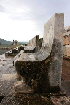 Stadium of ancient Messini - Marble benches