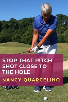 LPGA Hall of Fame instructor, Nancy Quarcelino demonstrates how to hit a short pitch shot with some major spin. #golf #golftip #golfswing #golflessons #womensgolf Golf Wedges, Golf Chipping Tips, Golf Books, Golf Instructors, Golf Score, Best Golf Courses, Driving Tips, Golf Putting, Golf Exercises