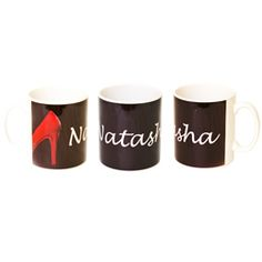 Personalised Red Shoe Novelty Mug  http://www.treather.com/product/personalised-red-shoe-novelty-mug
