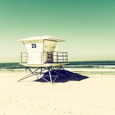 Lifeguard Tower | Tower 23 | Pacific Beach | San Diego | Beach House | Sea Green Vintage | Home and Office Decor