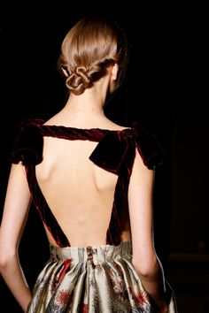 twisted bun chignon hairstyle | Valentino Fall 2013 Haute Couture (Details)