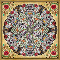 Mandala Elephants by Bedros Awak - Mandala Elephants Digital Art - Mandala Elephants Fine Art Prints and Posters for Sale