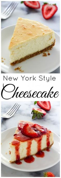Best New York-Style Cheesecake - Baker by Nature Learn how to make The Best New York-Style Cheesecake right at home!Learn how to make The Best New York-Style Cheesecake right at home! Brownie Desserts, Köstliche Desserts, Delicious Desserts, Dessert Recipes, Yummy Food, Health Desserts, Food Cakes, Cupcake Cakes, Cupcakes